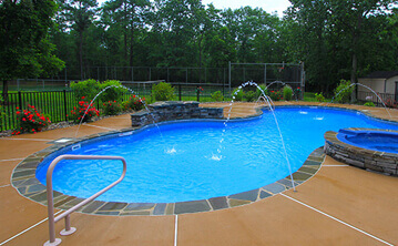 Water Features Coventry Cranston Swimming Pool Features