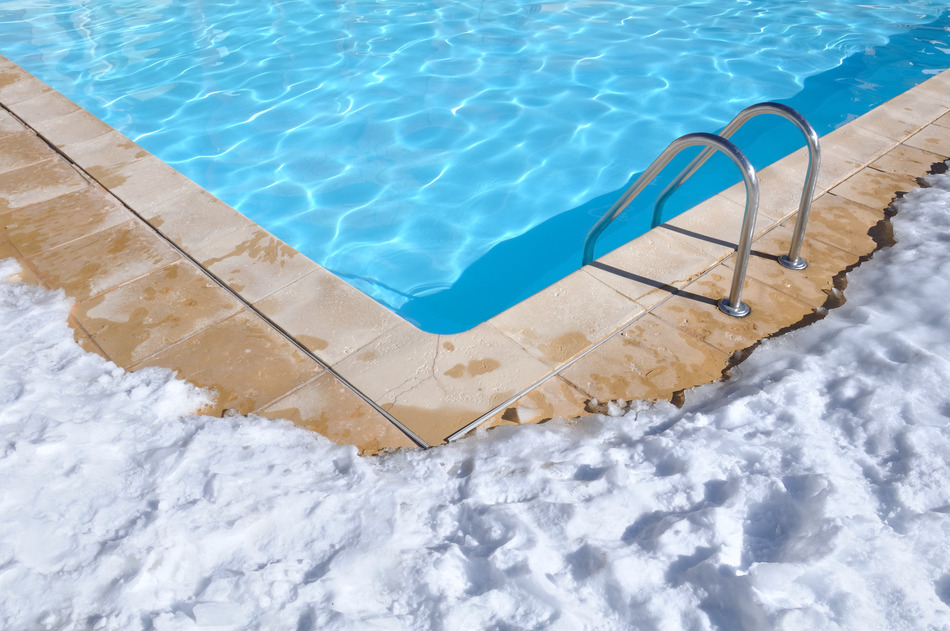 swimming pool in the snow
